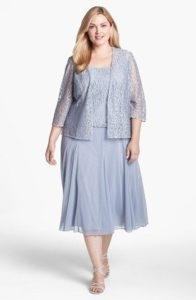 Mother of the Bride Dress Plus Size T Length