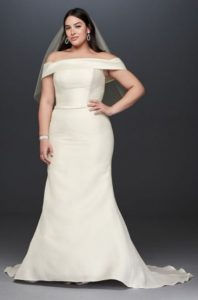 Off Shoulder Wedding Dress In XL