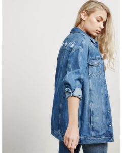 Oversized Denim Jacket Womens