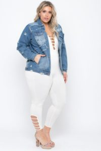 Oversized Denim Jacket for Women