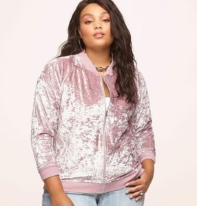 Pink Bomber Jacket Plus Size