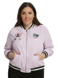 Pink Bomber Jacket Plus Size Women