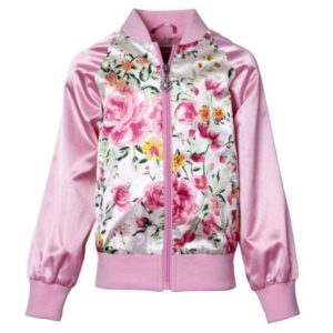 Pink Satin Bomber Jacket Plus Size