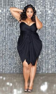 Plus Size Black Convertible Dress