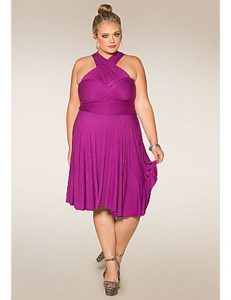 Plus Size Convertible Dress Women