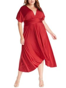 Plus Size Convertible Wrap Dress