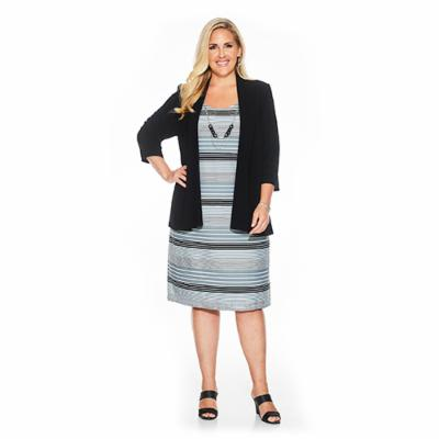 Plus Size Formal Jacket Dress for Woman
