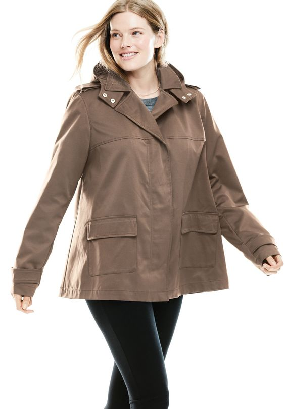 Plus Size Hood Jacket