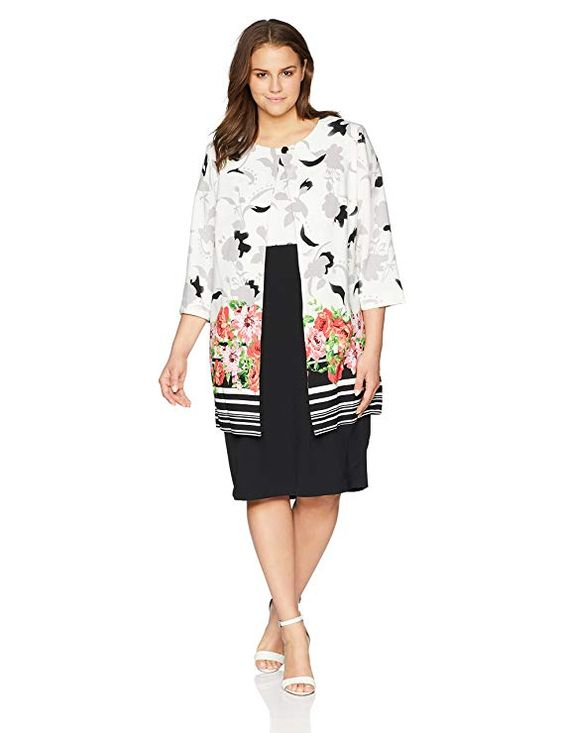 Plus Size Jacket Dress for Women
