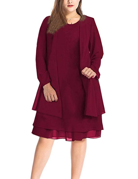 Plus Size Jacket Dresses for Woman