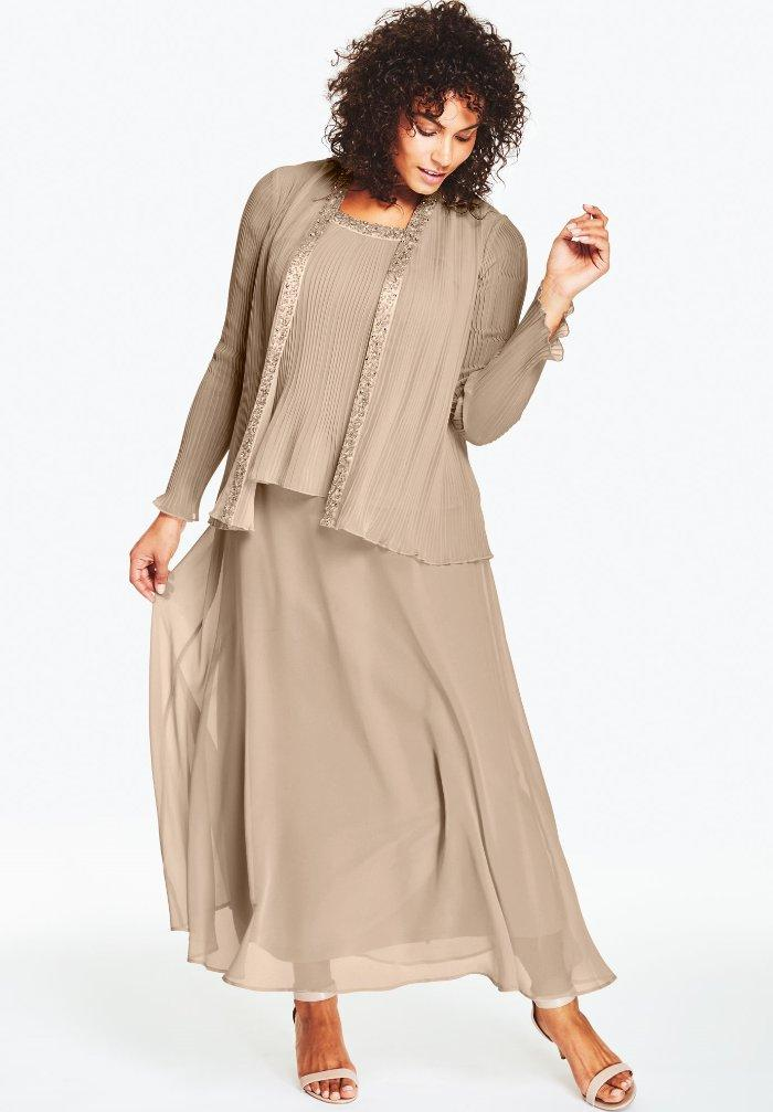 Plus Size Long Jacket Dresses for Women