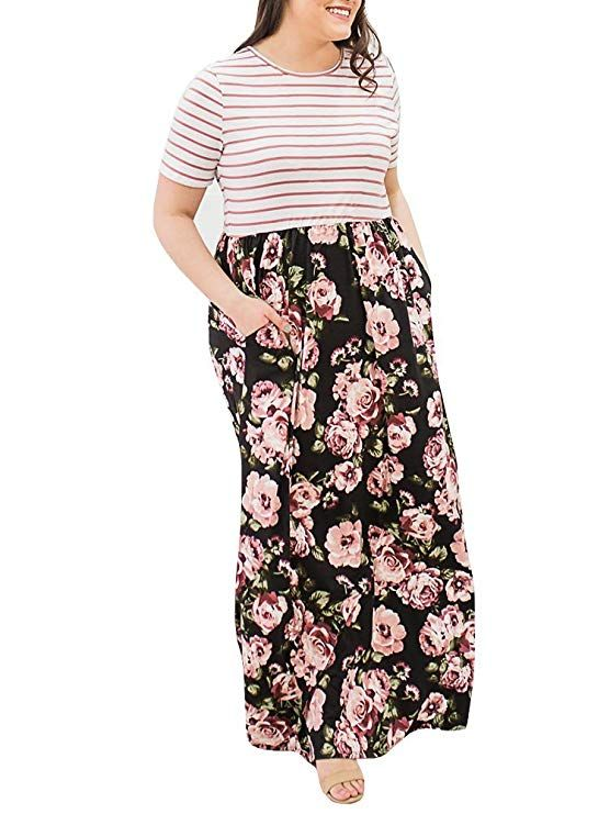 e5ac9582304 Plus Size Maxi Dress with Pockets