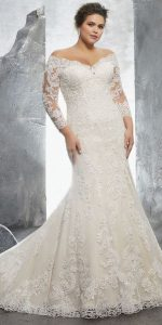 Plus Size Off The Shoulder Wedding Dress