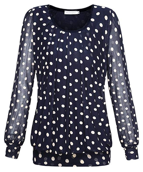 Polka Dot Blouse in Plus Size