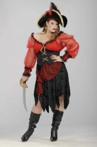 Women Pirate Costume in Plus Size
