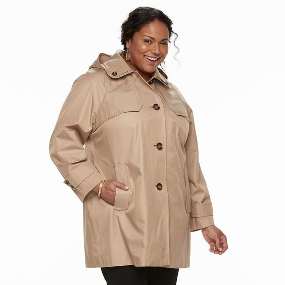 Women's Plus Size Jacket with Hood