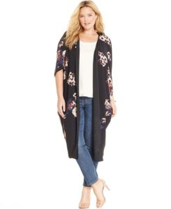Black Duster Cardigan Plus Sizes