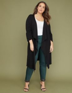 Black Plus Size Duster Cardigan