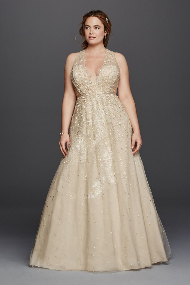 Champagne Maxi Dress in Plus Size