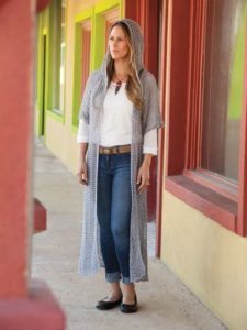 Crochet Duster Cardigan in Plus Size