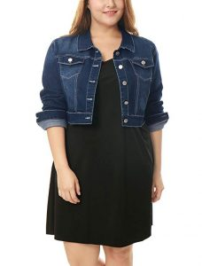 Cropped Jean Jacket Plus Sizes