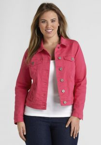 Cropped Plus Size Jean Jacket