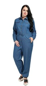 Denim Jumpsuit in Plus Size