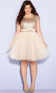 Gold Prom Dresses in Plus Size