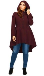 Hooded Coat Plus Size