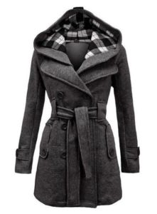 Hooded Coat in Plus Size