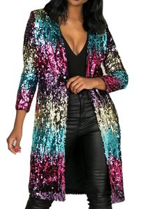 Long Plus Size Sequin Jackets
