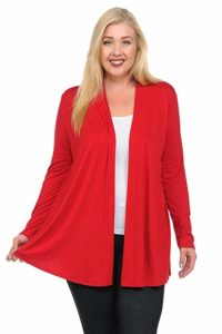 Plus Size Cardigan Red