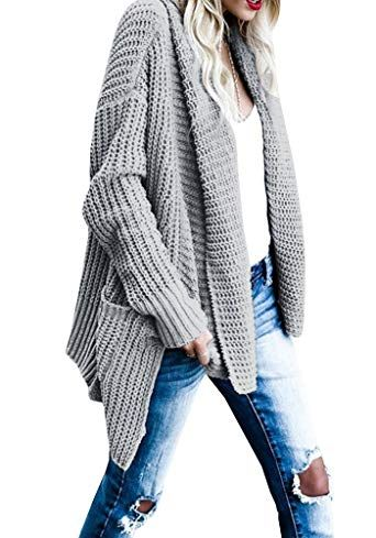 Women's Plus Size Chunky Cardigan for Winter