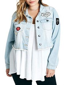 Plus Size Cropped Denim Jackets