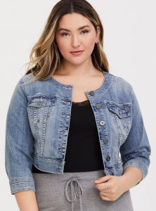 Plus Size Cropped Jean Jackets