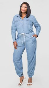 Plus Size Denim Jumpsuit Long SleevePlus Size Denim Jumpsuit Long Sleeve