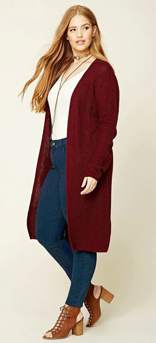 Plus Size Duster Cardigan Women