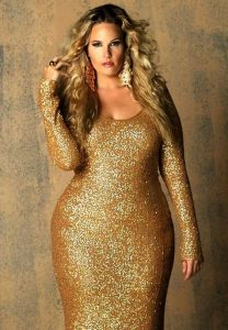 Plus Size Formal Prom Dresses In Gold