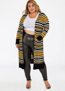 Plus Size Front Open Duster Cardigan