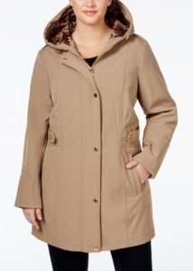 Plus Size Fur Hooded Coat