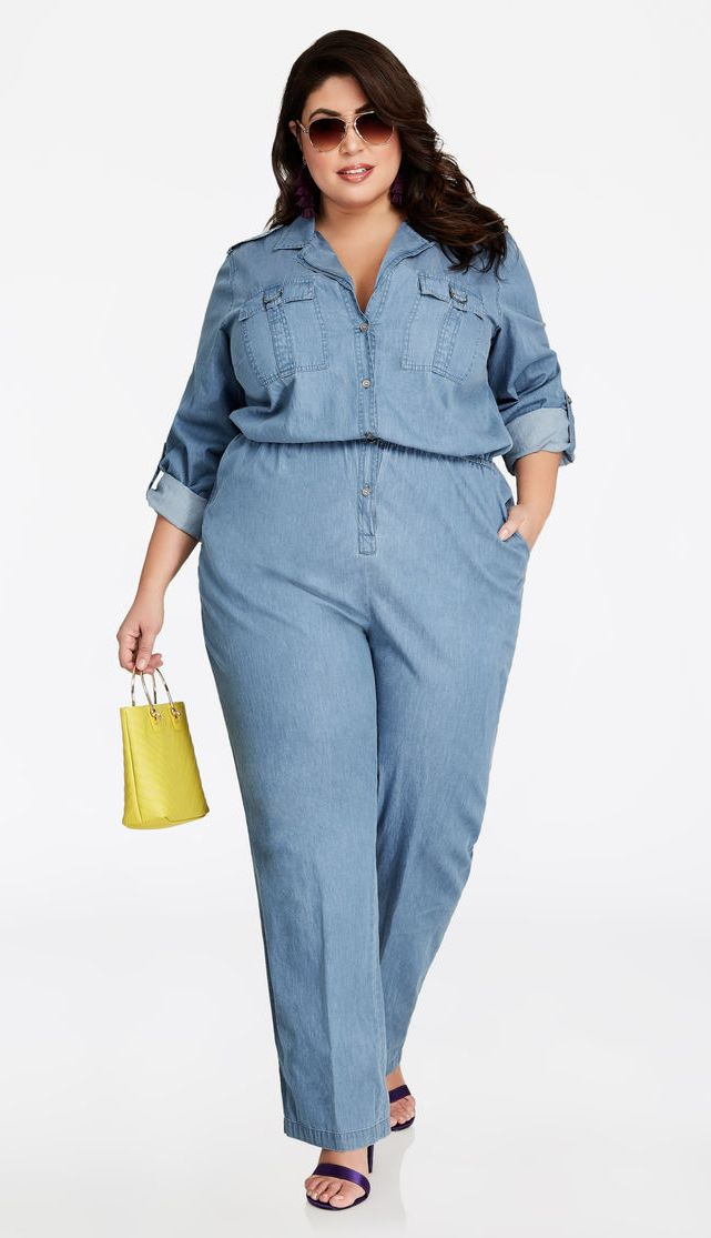 1bb6be4f1866 Plus Size Denim Jumpsuit for Women