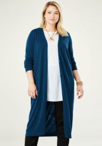 Plus Size Knitted Duster Cardigan