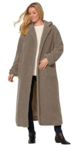 Plus Size Long Hooded Coat