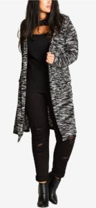 Plus Size Long line Duster Cardigan