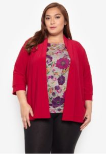 Plus Size Red Cardigans