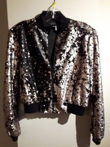 Plus Size Sequin Bomber Jackets