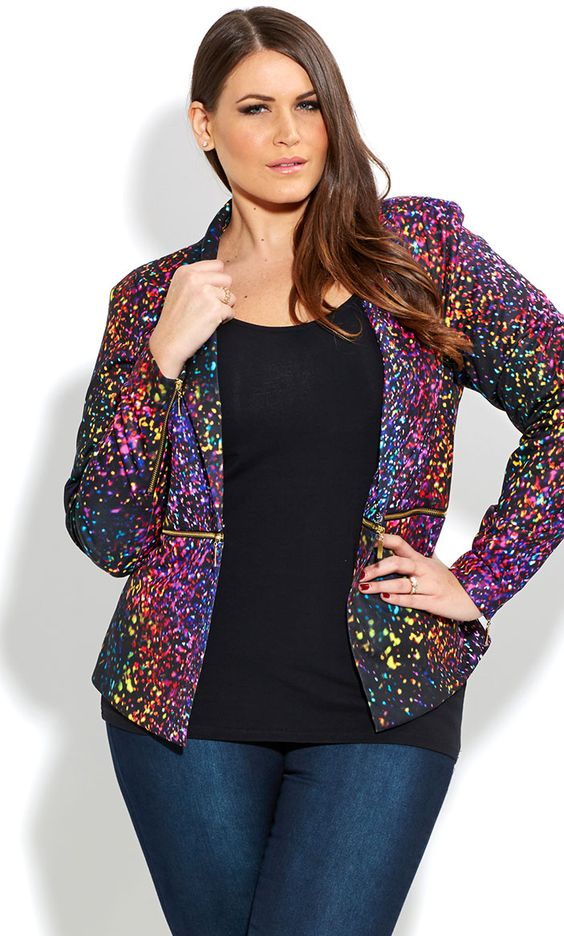 Plus Size Sequin Jacket for Women