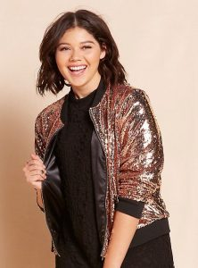 Plus Size Sequin Jackets Gold