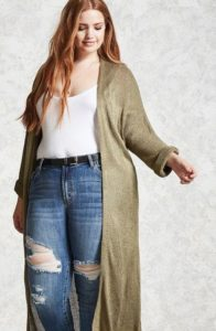 Plus Sized Duster Cardigan