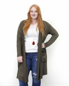 Plus Sized Lightweight Duster Cardigan